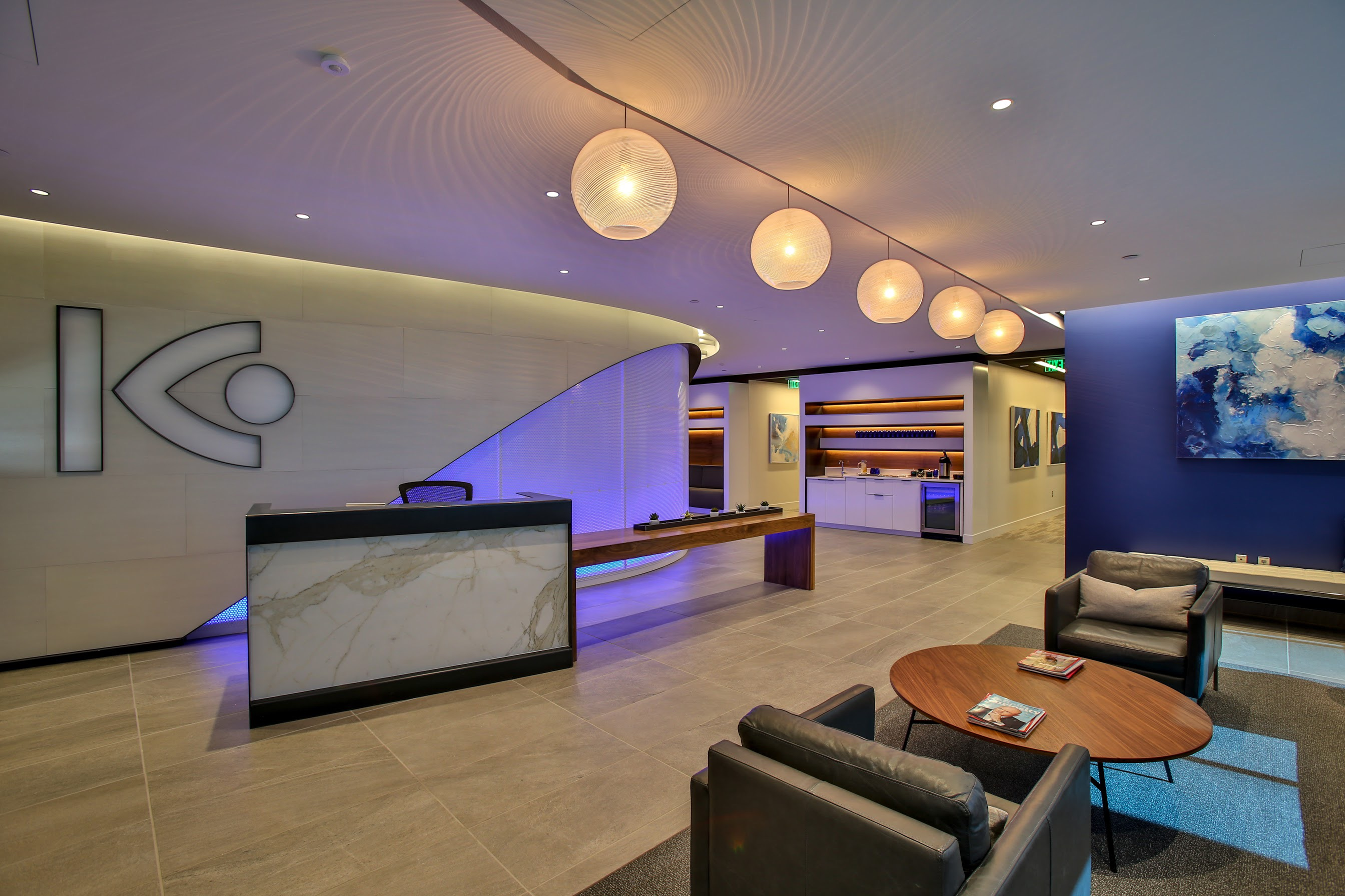 The patient reception area at Kugler Vision