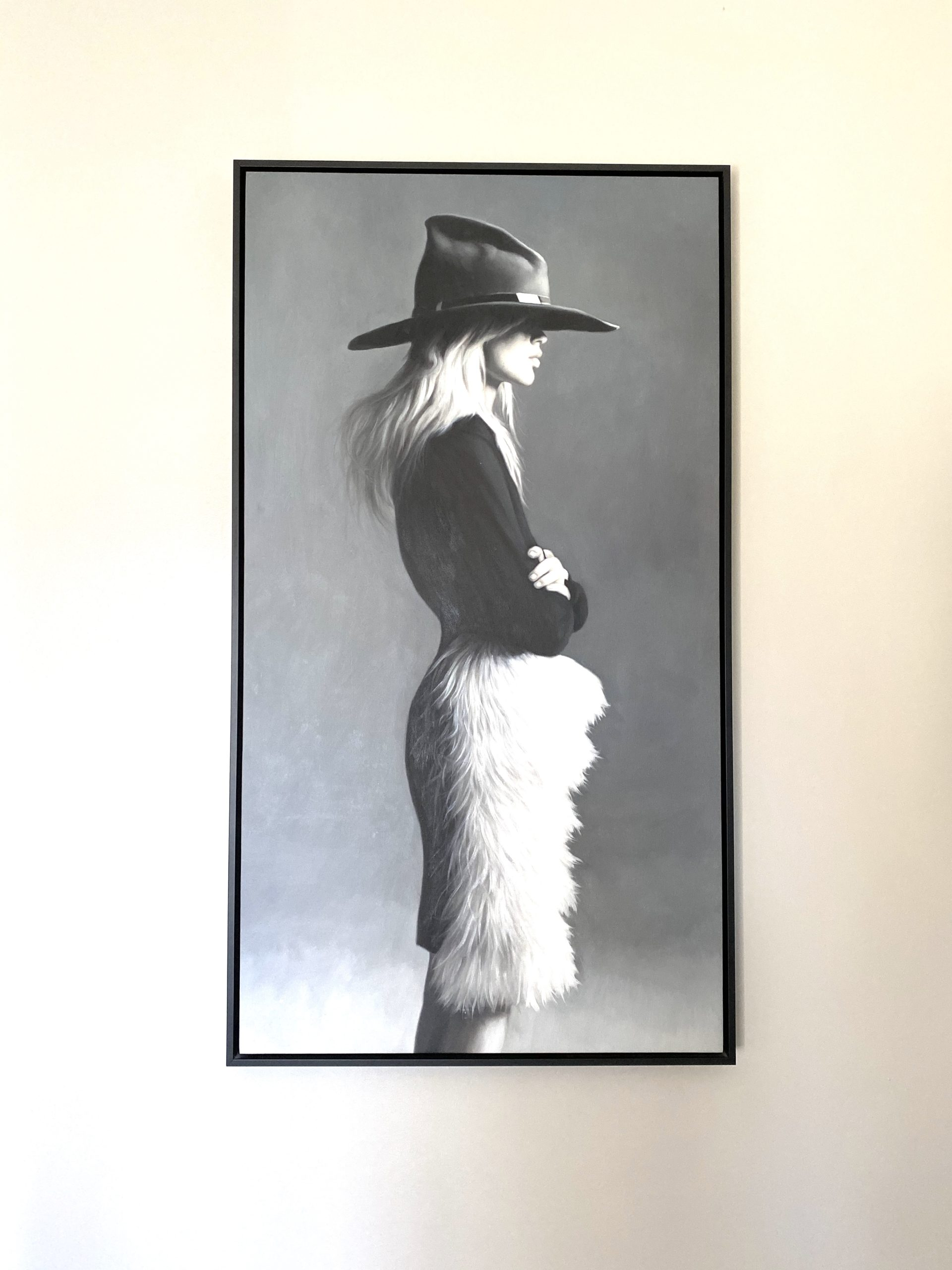 I was obsessed with this unique piece of artwork that really captured the vibe of the suite.
