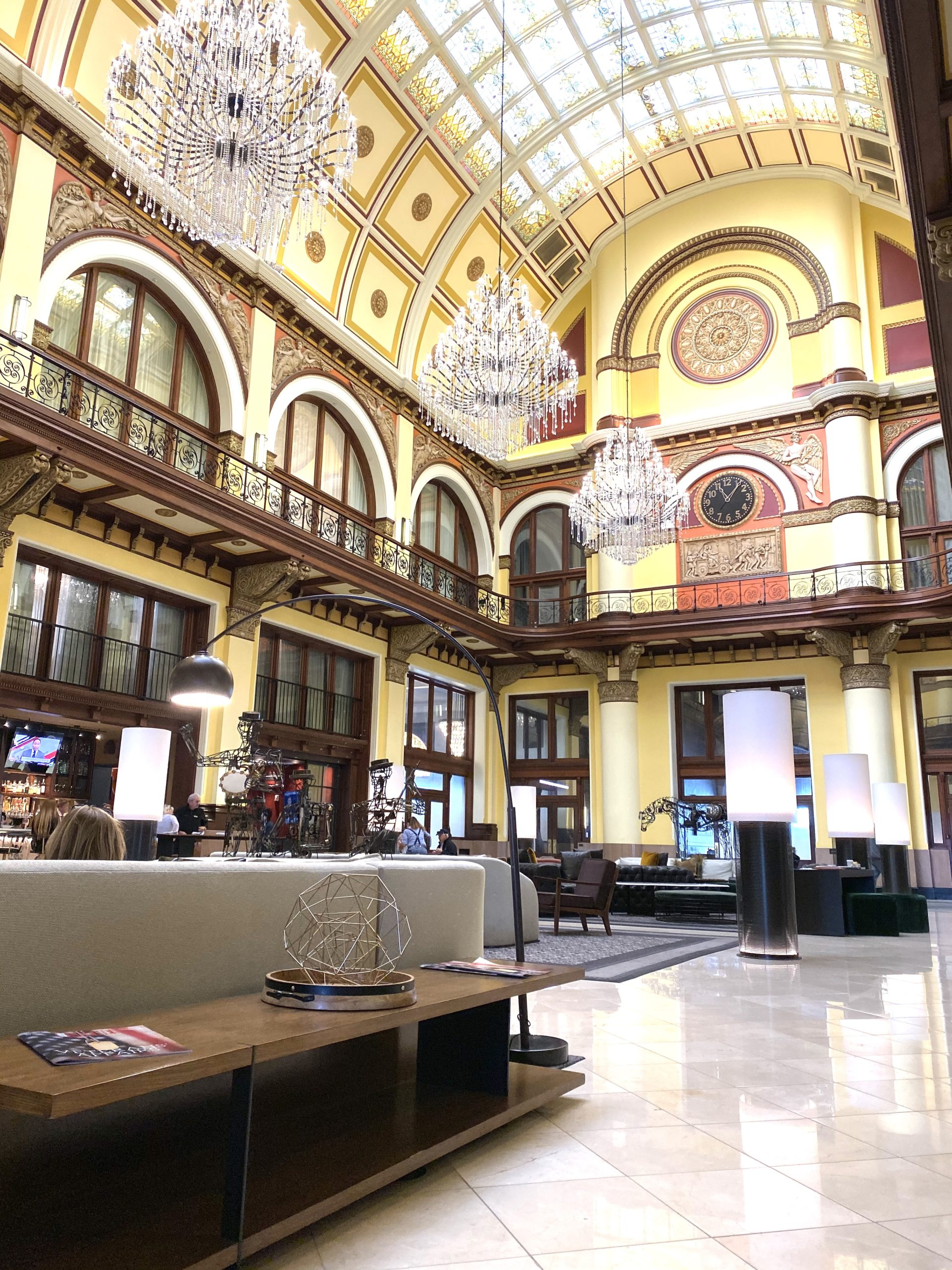 The beautiful lobby of the Union Station Hotel