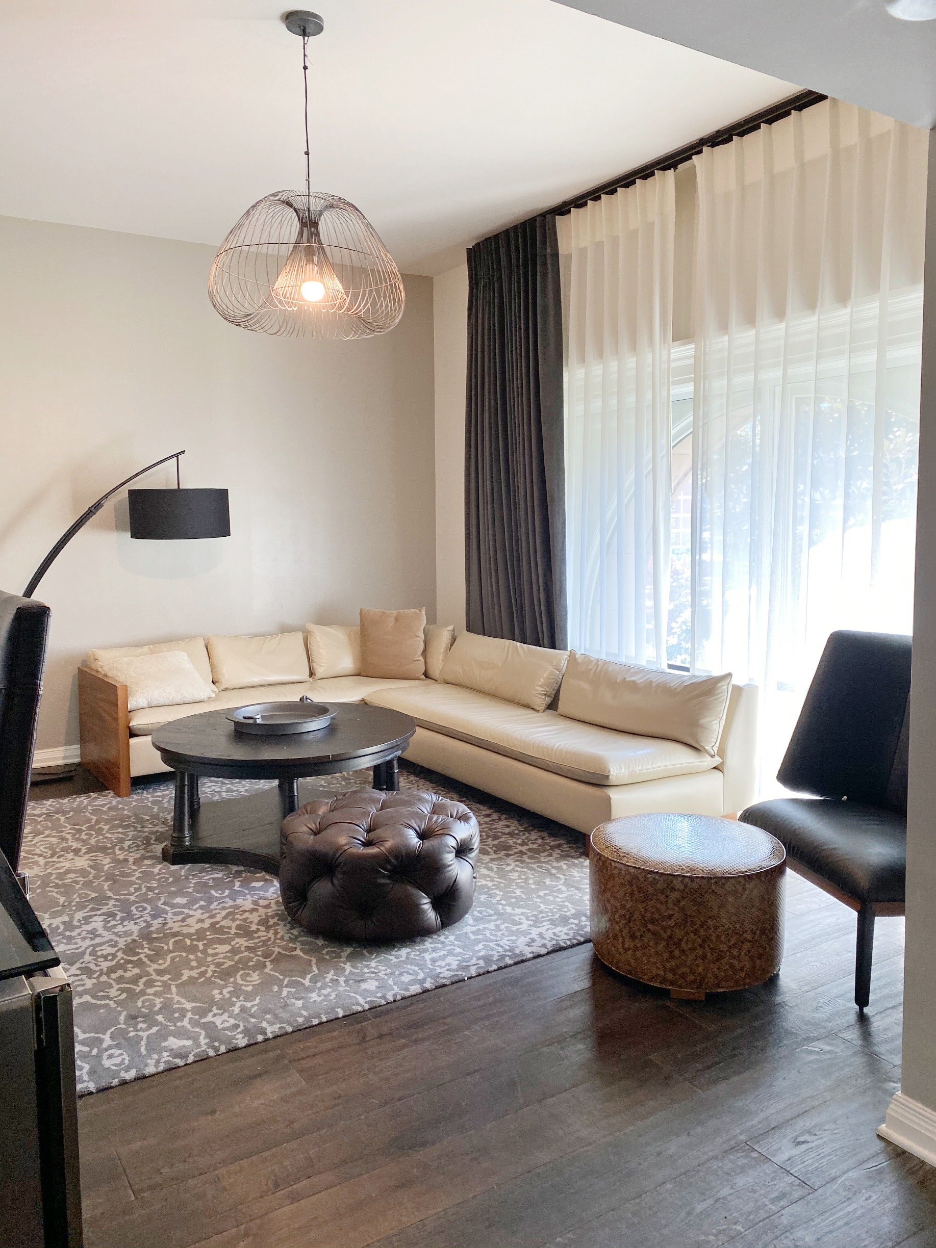 The Crescendo Suite living area is like a home away from home!
