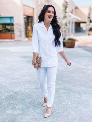white shirt, styling white on white