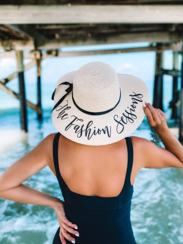 custom floppy straw hat beach hat the white invite the fashion sessions hat