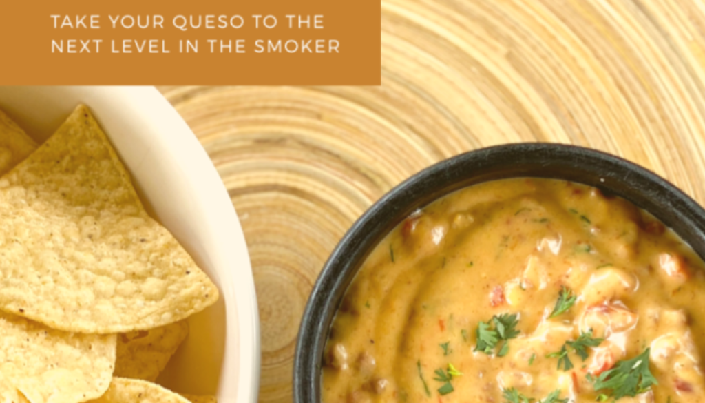 easy smoked queso dip cheese dip smoker traeger recipe