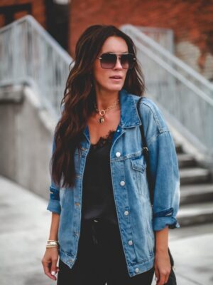 how to style a denim jacket oversized fun style target style 3