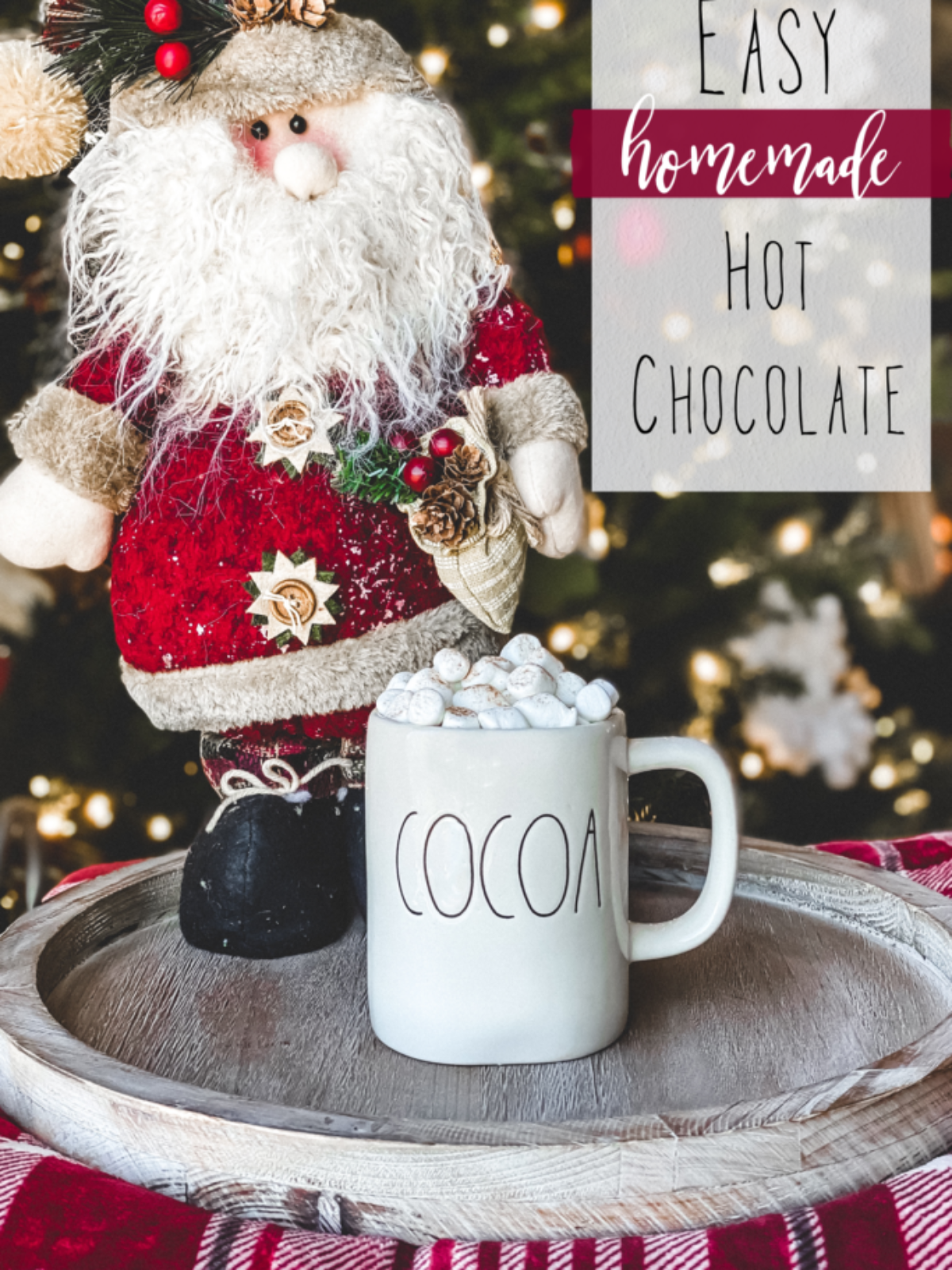 easy simple delicious yummy homemade crockpot hot chocolate recipe