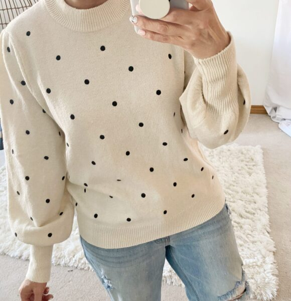 my favorite new arrivals from target target style polka dot sweater valentines look date night look casual style who what wear